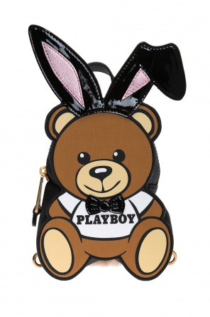 'bear playboy' motif backpack od Moschino