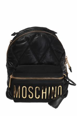 Quilted logo backpack od Moschino