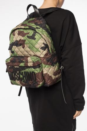 Quilted camo backpack od Moschino