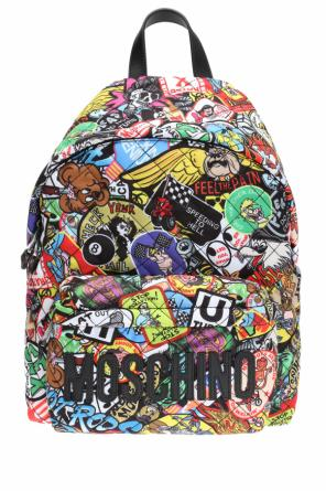 Patterned backpack od Moschino
