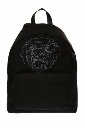 Rottweiler head printed backpack od Givenchy