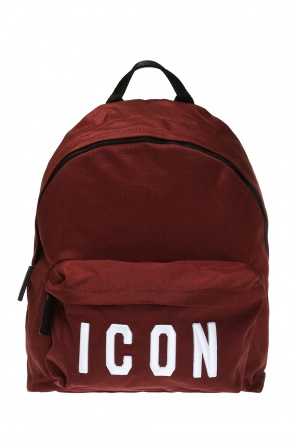 Backpack with an embroidered 'icon' inscription od Dsquared2