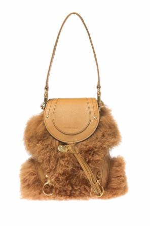 Fur-trimmed backpack od See By Chloe