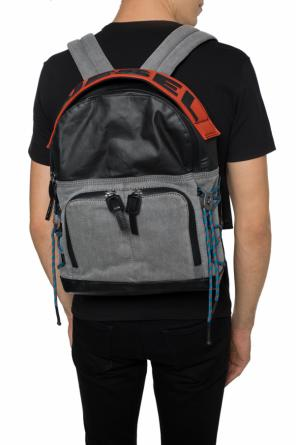 'd-master back' logo-printed backpack od Diesel