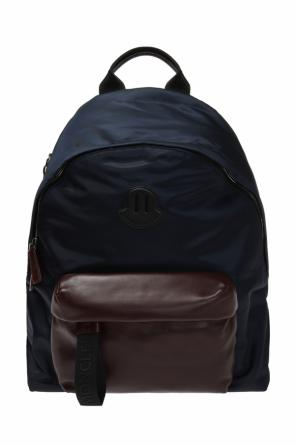 Backpack with a leather pocket od Moncler