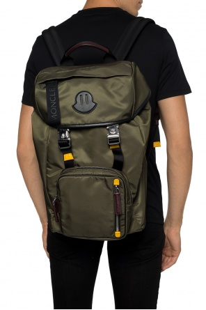 'chute' backpack with a logo od Moncler