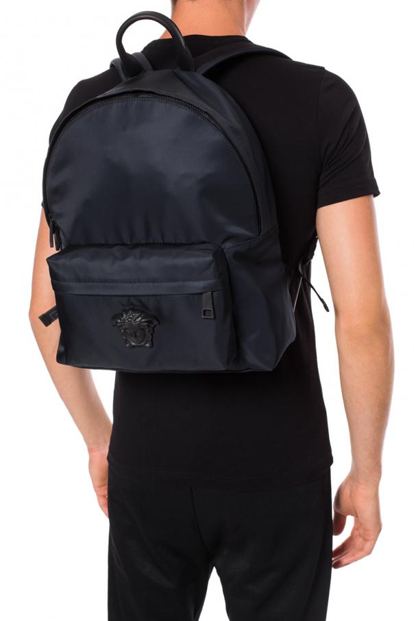 Backpack with medusa head od Versace
