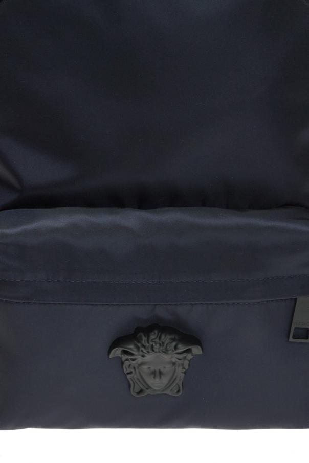 Backpack with medusa head od Versace
