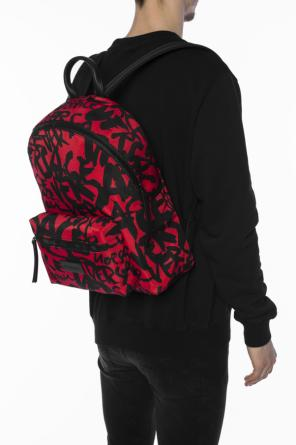 Logo-printed backpack od Versace