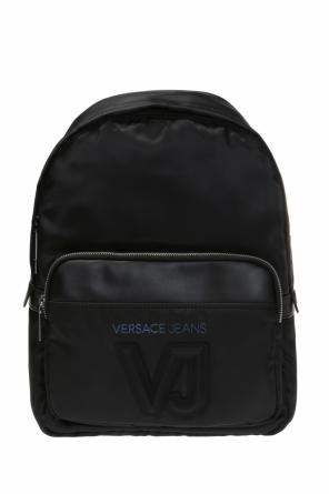 Backpack with rubber logo od Versace Jeans