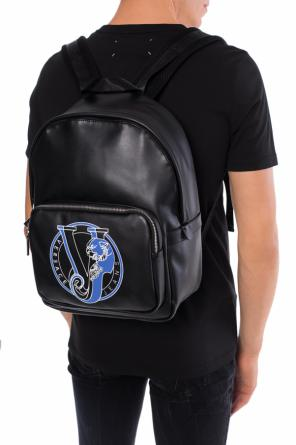 Logo-printed backpack od Versace Jeans