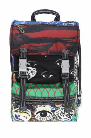 Patterned backpack with patches od Kenzo