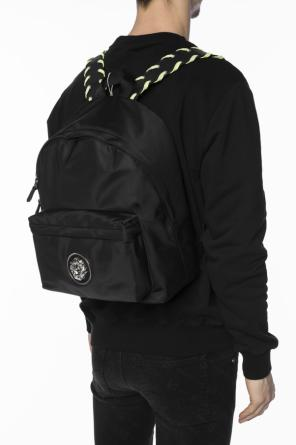 Metal lion head backpack od Versace Versus