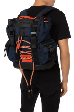 Backpack with a decorative tie-up od Diesel