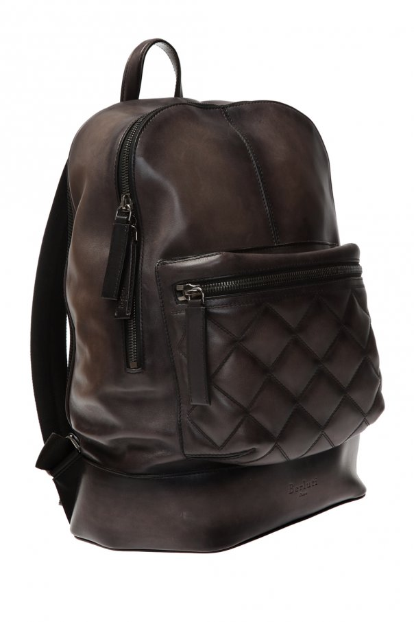 Backpack with an embossed logo od Berluti