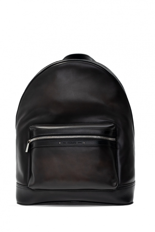 Berluti Leather backpack with logo