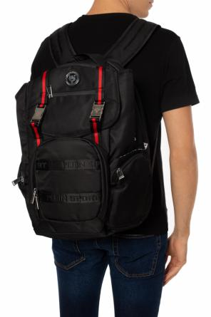 'clarify' patched tiger motif backpack od Plein Sport