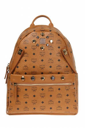 'dual' leather backpack od MCM