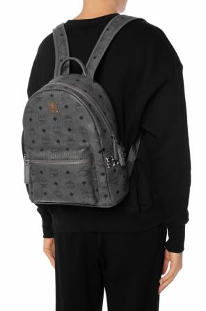 Patterned backpack with a logo od MCM