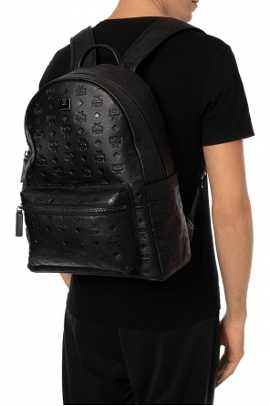 Patterned backpack with logo od MCM