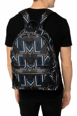 Patterned backpack with an application od MCM