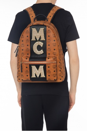 'stark' backpack with studs od MCM