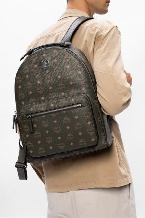 Patterned backpack with logo od MCM