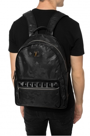 Patterned backpack with a leather finish od MCM