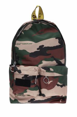 'main label' camo backpack od Off White