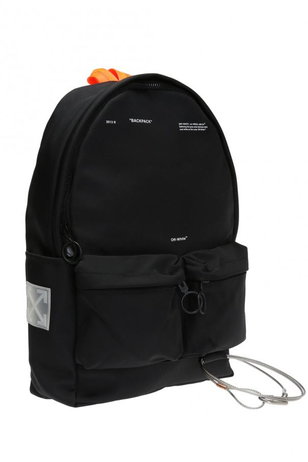 Backpack with metal key ring od Off White