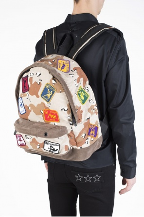 Patched camo backpack od Palm Angels