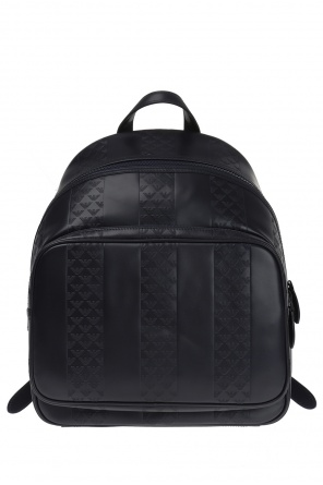 Logo leather backpack od Emporio Armani