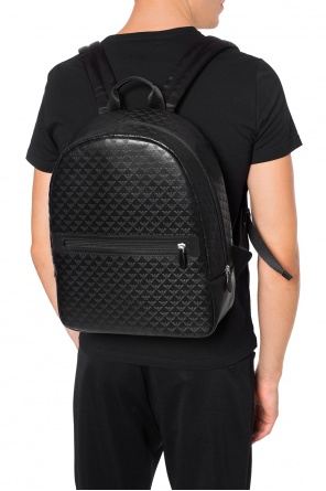 Logo-embossed backpack od Emporio Armani