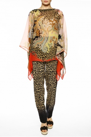 Patterned sheer poncho od Etro
