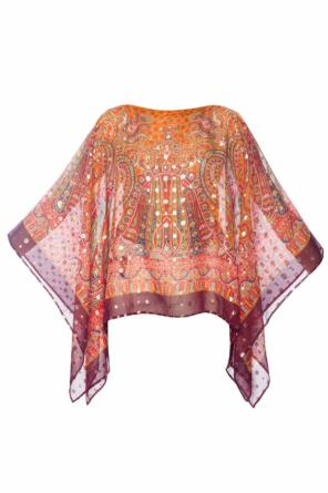 Patterned poncho od Etro