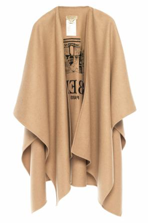 Poncho with an embroidered logo od Burberry