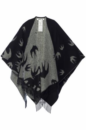Patterned poncho od McQ Alexander McQueen