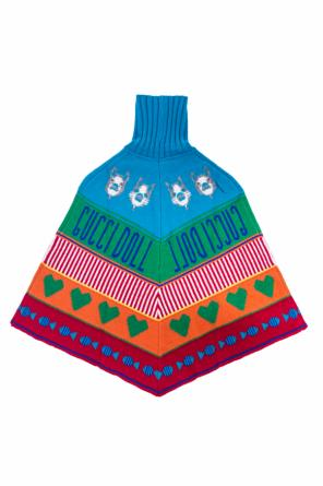 Patterned turtleneck poncho od Gucci Kids