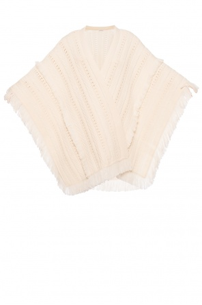 Poncho with fringes od Saint Laurent