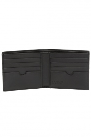 Leather wallet with logo od Loewe