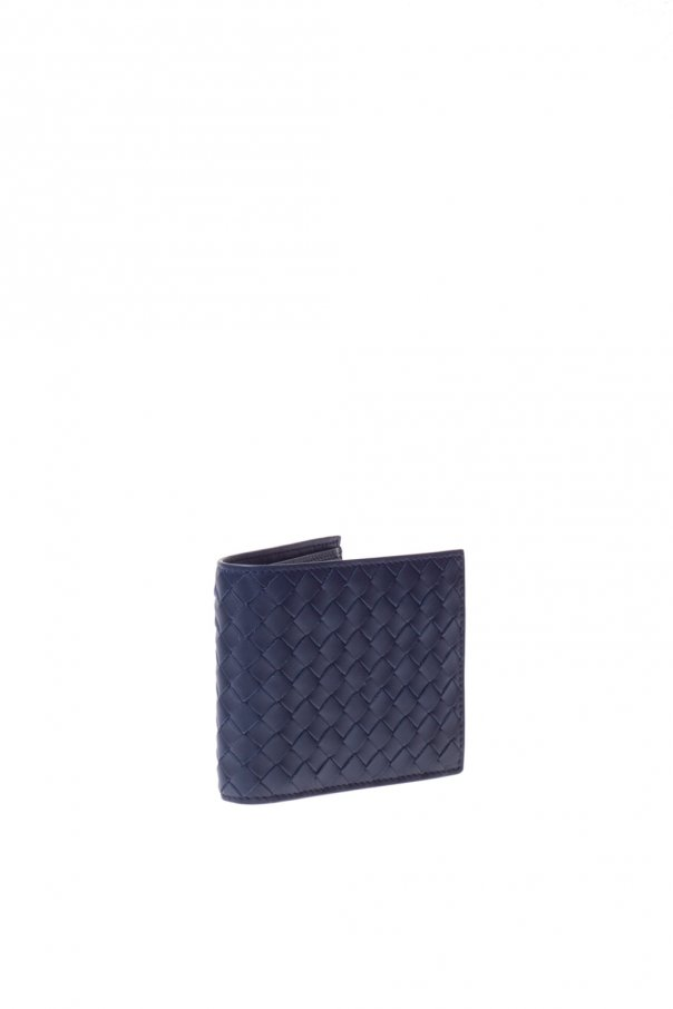 Leather woven wallet od Bottega Veneta