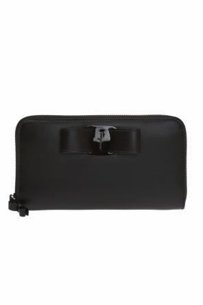Wallet with a bow and logo od Salvatore Ferragamo