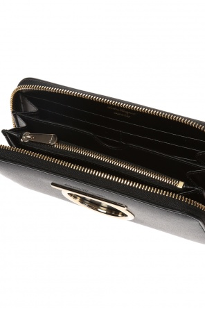Wallet with a logo and 'gancini' motif od Salvatore Ferragamo