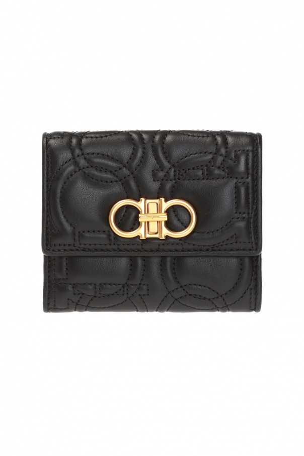 Salvatore Ferragamo Quilted wallet with logo