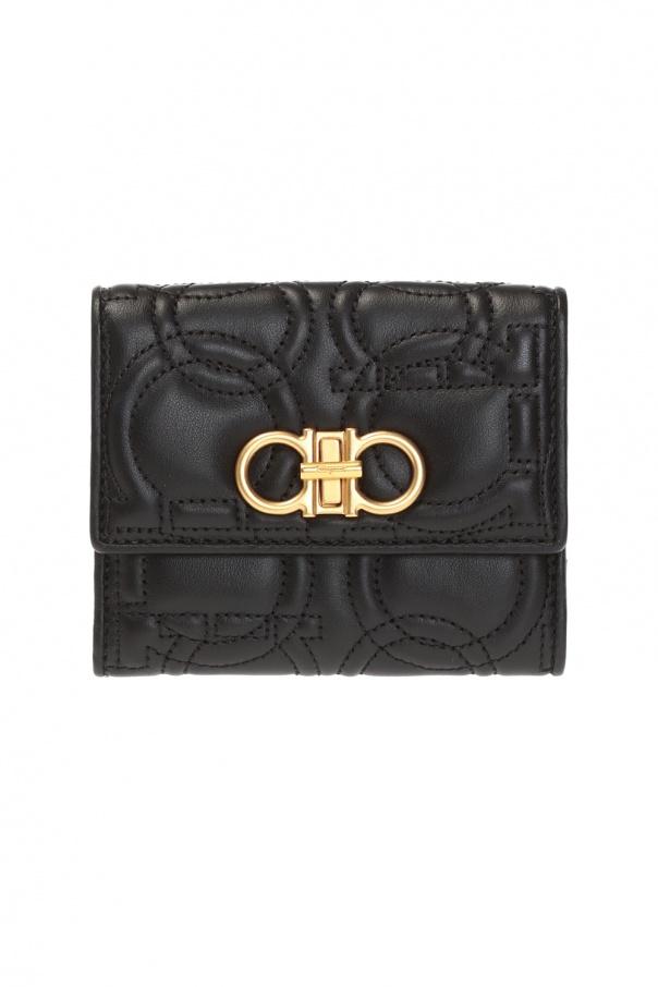Salvatore Ferragamo Quilted wallet with logo