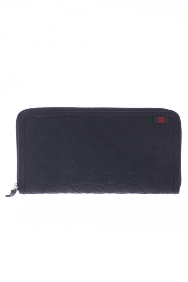 5a1e00b7afa376 Rubber 'Guccissima' Leather Zip Around Wallet Gucci - Vitkac shop online
