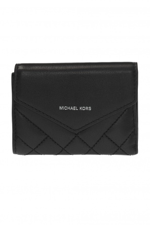 Quilted wallet with logo od Michael Kors