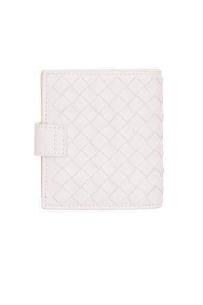 Cream intrecciato mini wallet od Bottega Veneta