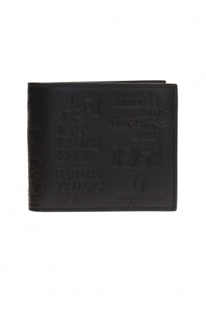Folded wallet with embossed logo and inscriptions od Saint Laurent