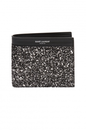 Bi-fold wallet with glitter finish od Saint Laurent